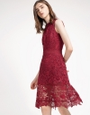 Sleeveless A-Line Lace Dress