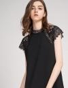 Lace-Trimmed Shift Dress