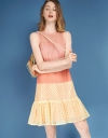 Color Block A-Line Lace Dress