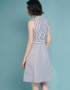 Belted Striped Midi Dress