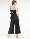Wide-Leg Jumpsuit With Tie Back