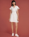 Embroidered Dress With Ruffled Detail