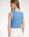 Tweed Top With Tasseled Hem