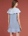 Shift Dress With Flouncy Hem