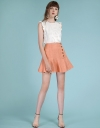 A-Line Skirt With Flouncy Hem