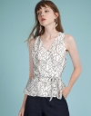 Sleeveless Lace Wrap Top