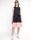 Color Block Drawstring Dress