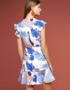 Printed Dress With Drawstring Detail