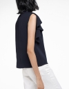 Ruffled Top With Button Front