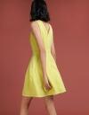 Mesh-Trimmed Halter-Neck Dress