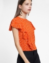 Flouncy Sleeved Blouse With Ruffled Detail