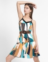 Strappy Printed Dress With Belt
