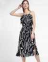 Strappy Printed Midi Dress
