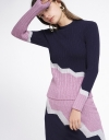 Color Block Sleeved Top