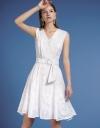 Jacquard A-Line Midi Dress