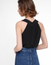 Gathered Top With Halter Neck