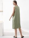 Sleeveless Midi Dress With Split Hem