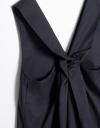 Maxi Knot Drape Dress