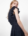 Tied Front Dress With Ruffles