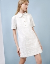 Collar Dress With Pearl Buttons