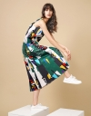 Art Print Maxi Dress