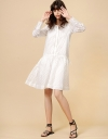 LIMITED EDITION Long Sleeve Openwork Drawstring Dress