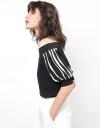 Ruffle Stripe Knit Top