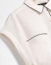 Oversized Shirt With Stitching Edge