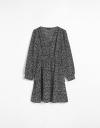Long Sleeve Wrap Tier Dress