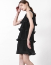 Pleated Curved Dress