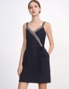 Contrast Wrap Camisole Dress With Embellishment