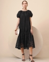 Pleated Ruched Maxi Dress