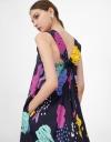 Abstract Print V Neck Maxi Dress