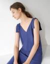Sleeveless Tie Shoulder Maxi Dress