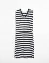 Stripe Sleeveless Maxi Dress